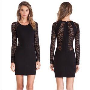 Revolve Parker Naomi Black Lace Panel Mini Dress